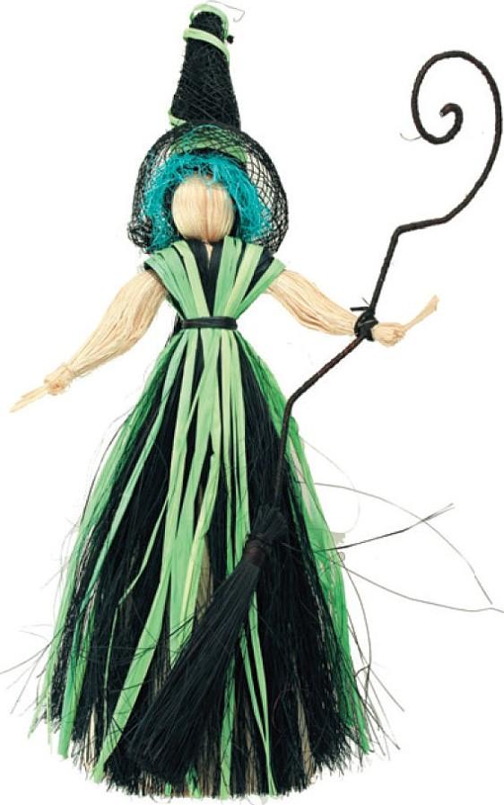 Čarodějnice s modrými vlasy 20 cm