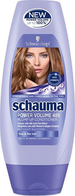 Fotografie Schauma Power Volume 48H balzám pro větší objem jemných a zplihlých vlasů 200 ml