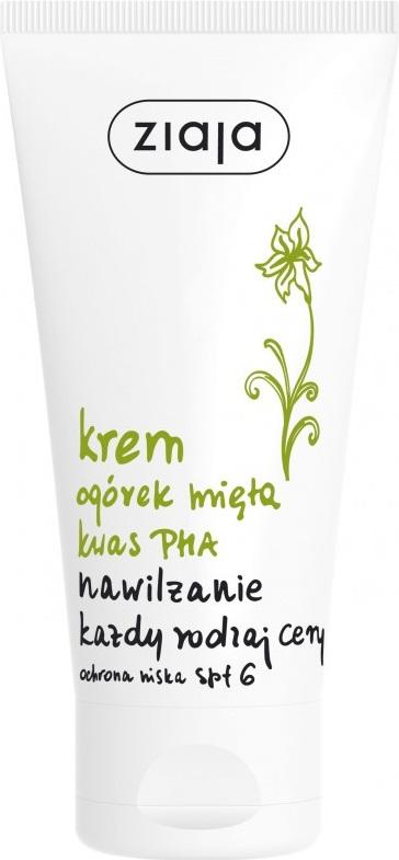 Ziaja Okurka máta SPF6 pleťový hydratační krém 50 ml