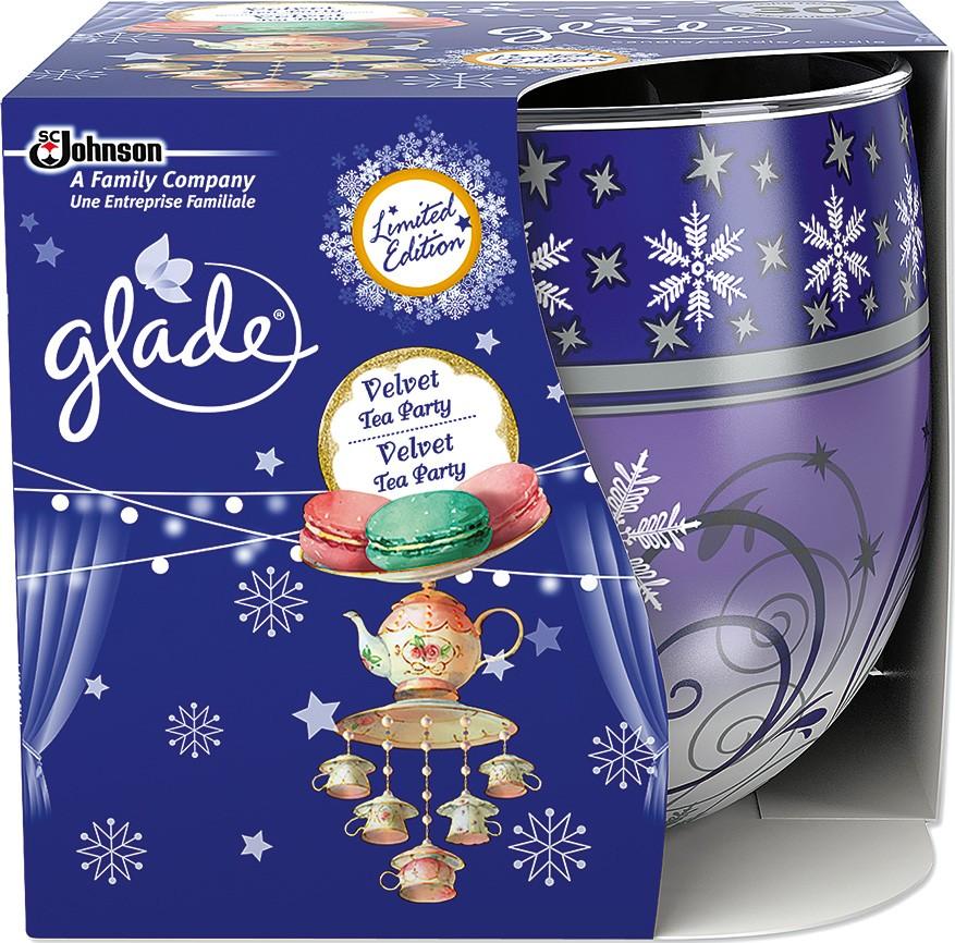 Glade by Brise Velvet Tea Partyvonná svíčka ve skle doba hoření až 30 hodin 120 g