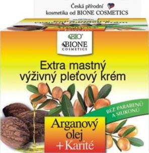Bione Cosmetics Arganový olej & Karité extra mastný výživný pleťový krém 51 ml