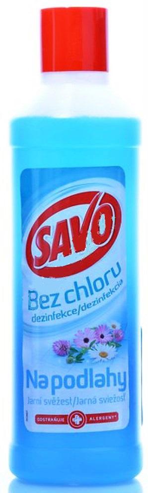 Fotografie Savo Jarní svěžest Bez chloru tekutý čistící a dezinfekčí přípravek na podlahy 1 l