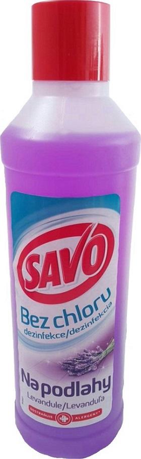 Fotografie Savo Levandule Bez chloru čistící a dezinfekčí přípravek na podlahy 1 l
