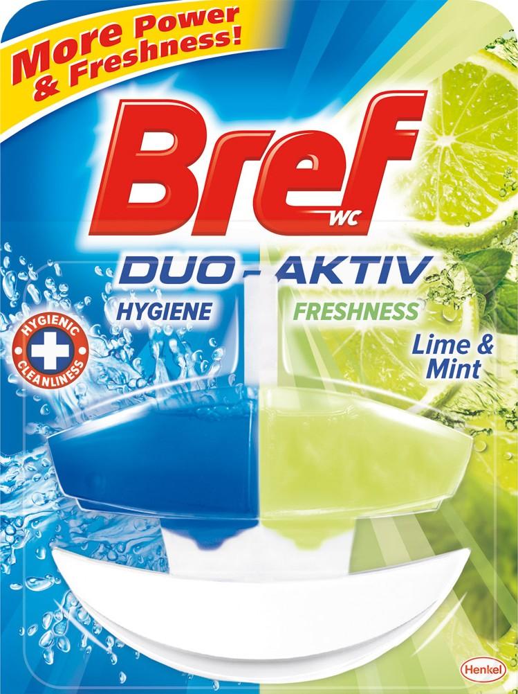 Fotografie Bref Bref Duo Aktiv Limetka a Máta tekutý Wc blok komplet 50 ml