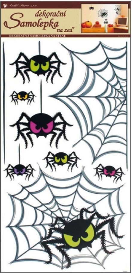 Room Decor Samolepky na zeď pavouci 69 x 32 cm