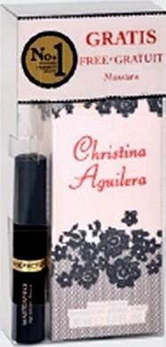 Christina Aguilera Signature parfémovaná voda pro ženy 30 ml + Masterpiece řasenka černá 5,3 ml, dárková sada