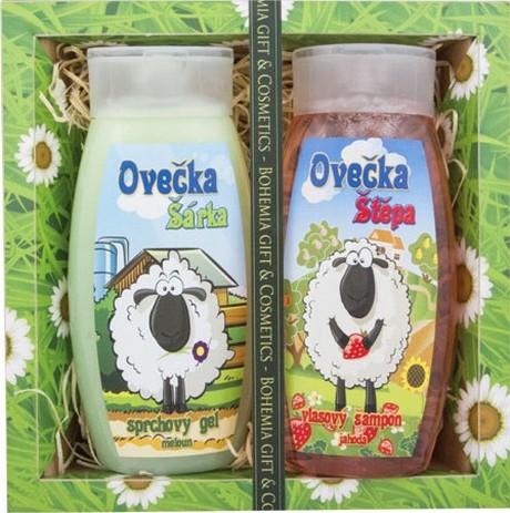 Bohemia Gifts & Cosmetics Kids Ovečka Šárka sprchový gel 250 ml + Ovečka Štěpa šampon na vlasy 250 ml, kosmetická sada