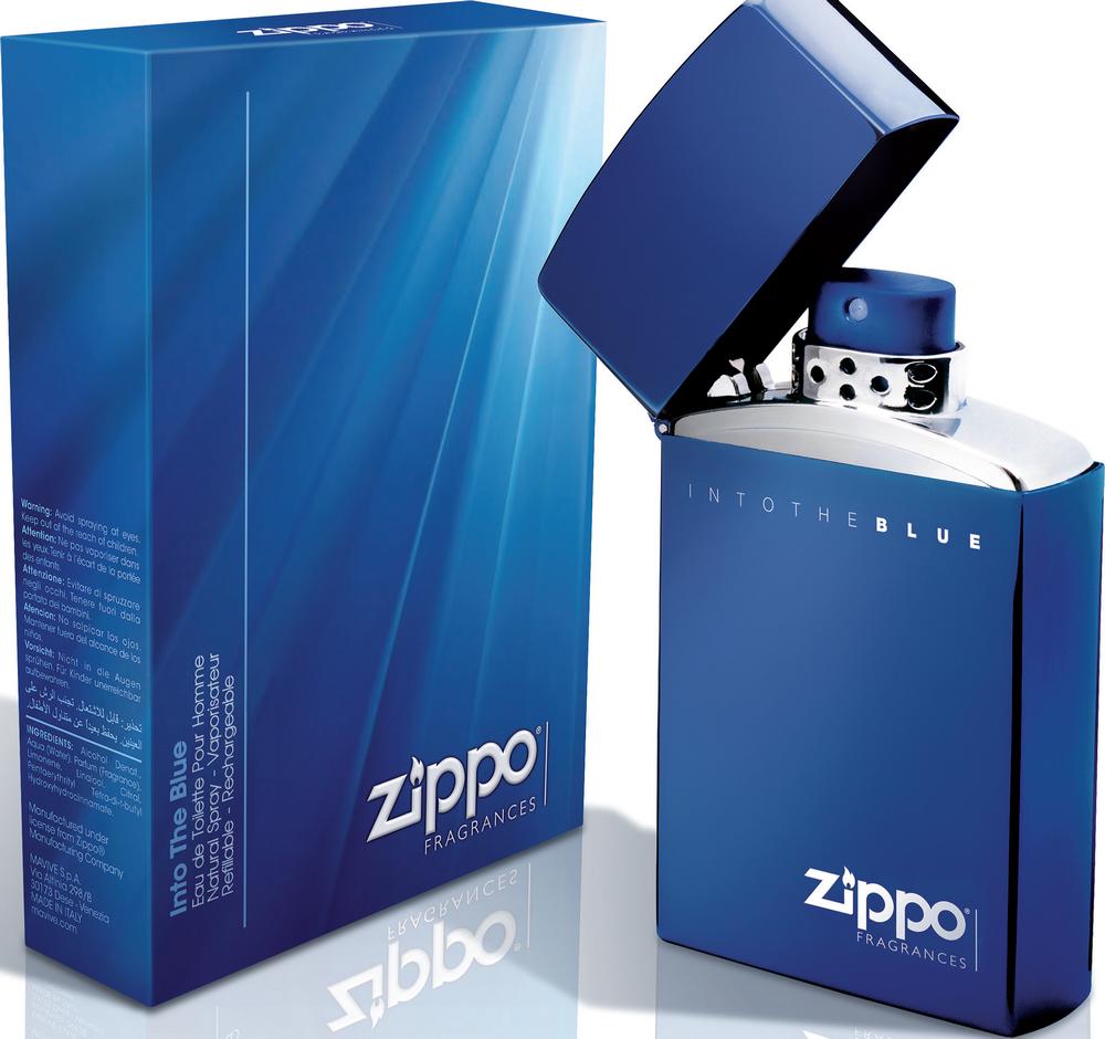 Fotografie Zippo Info The Blue pour Homme toaletní voda 100 ml