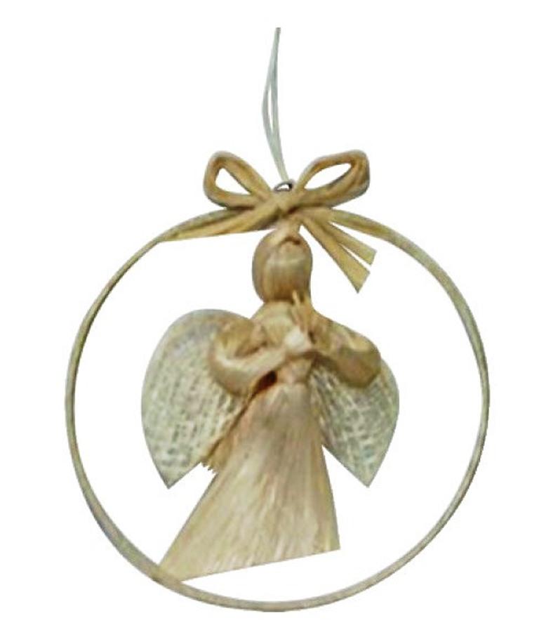 Anděl z abaky v kruhu 8 cm