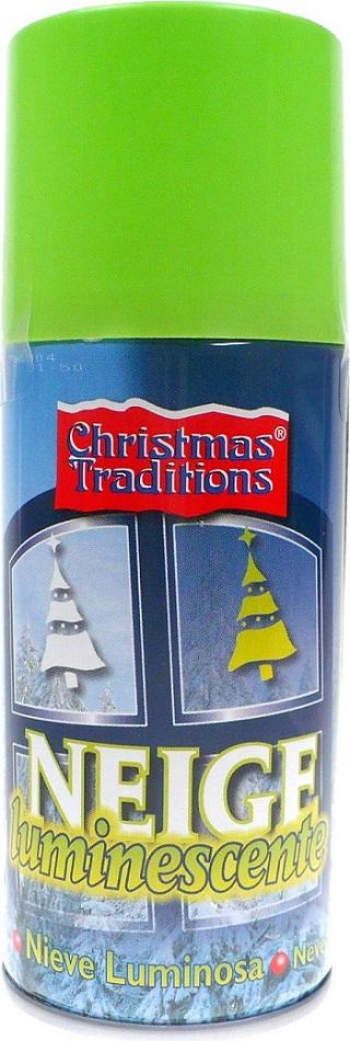 Christmas Traditions Neige Luminescente zářící sněhový spray na okna a zrcadla Svítící 150 ml
