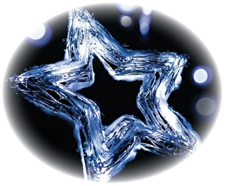Fotografie Emos Hvězda proutěná vykrojená 20 LED studená bílá + 30cm kabel, na baterie 40 x 40 x 4 cm