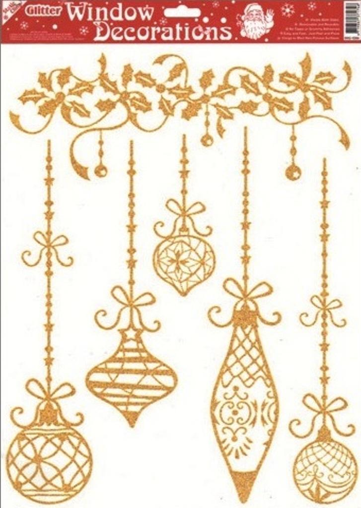 Okenní fólie bez lepidla se zlatými glitry 5 baněk 42 x 30 cm