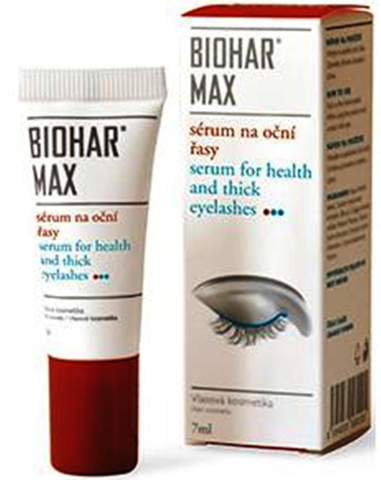 Fotografie Biohar Max sérum na oční na řasy stimuluje a regeneruje růst očních řas 7ml