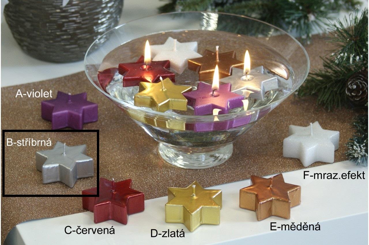 Lima Hvězda plovoucí svíčka stříbrná 60 x 60 x 25 mm 1 kus