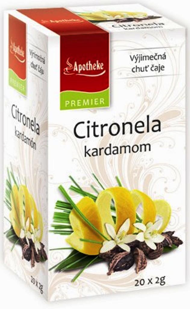 Apotheke Citronela a kardamon bylinný čaj 20 nálevových sáčků x 2 g