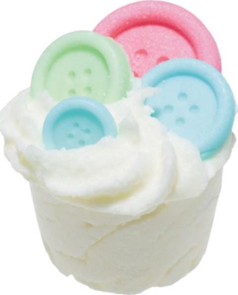 Bomb Cosmetics Barevné knoflíky - Button Me Up Máslový špalíček do koupele 50 g