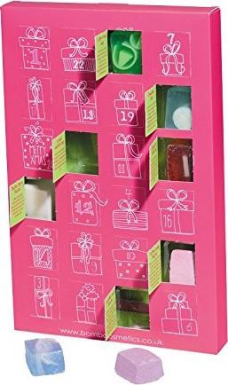 Bomb Cosmetics Advent Calendar Adventní kalendář mix balistiků a mýdel 24 kusů 600 g, kosmetická sada