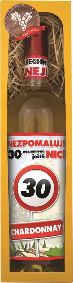 Bohemia Gifts & Cosmetics Chardonnay Vše nejlepší 30 bílé dárkové víno 750 ml