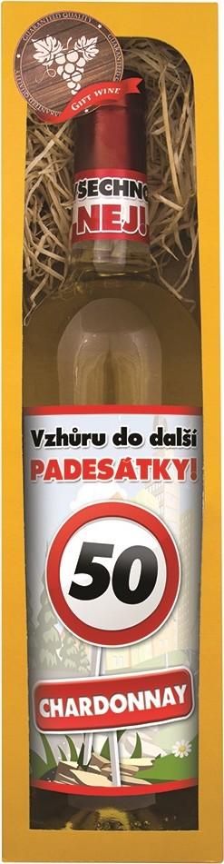Bohemia Gifts & Cosmetics Chardonnay Vše nejlepší 50 bílé dárkové víno 750 ml