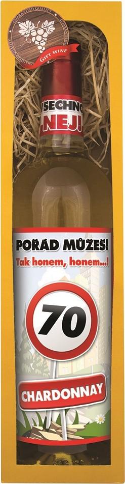 Bohemia Gifts & Cosmetics Chardonnay Vše nejlepší 70 bílé dárkové víno 750 ml