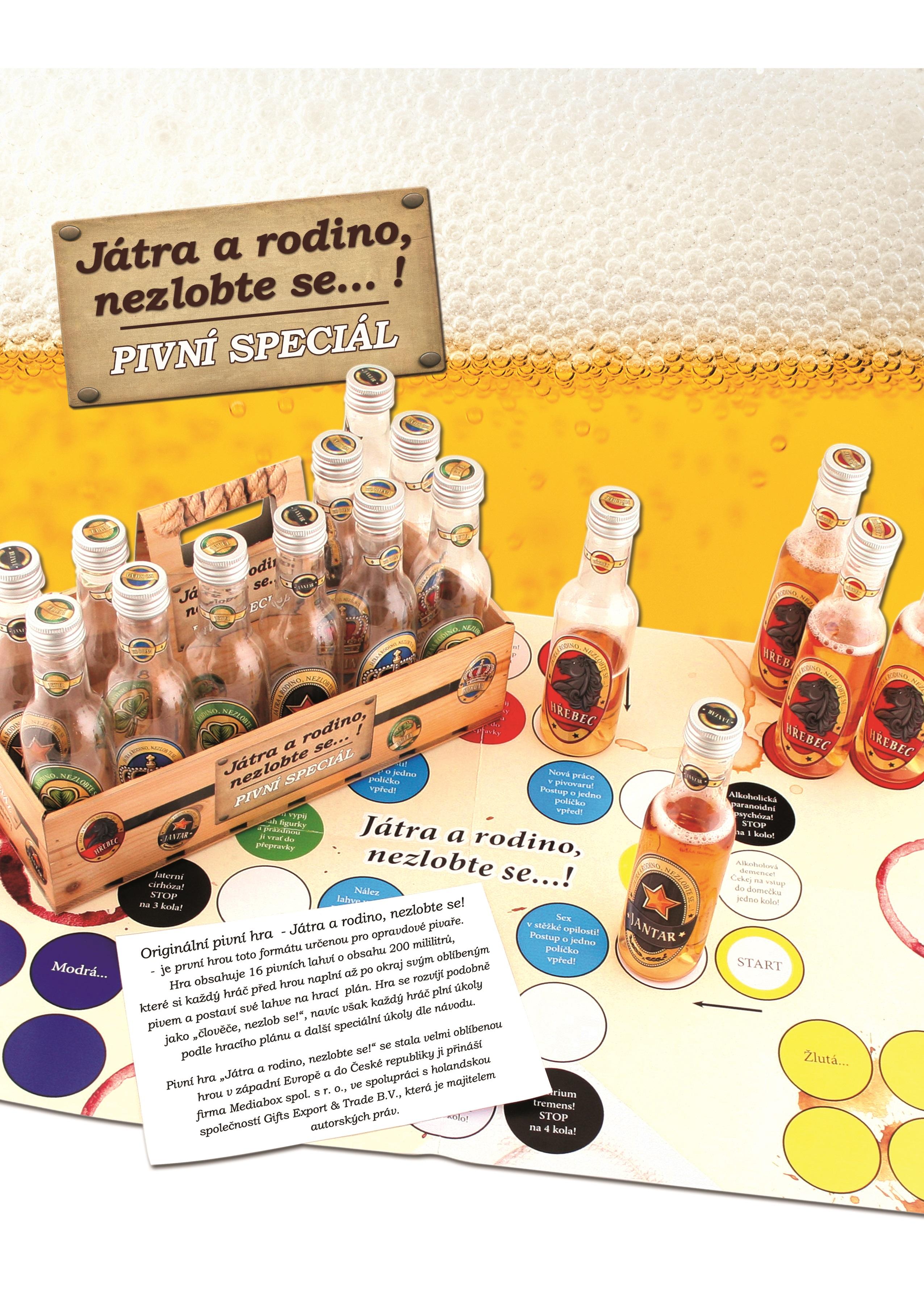 Fotografie Bohemia Gifts & Cosmetics Játra a rodino, nezlob se! Pivní Člověče nezlob se! společenská hra