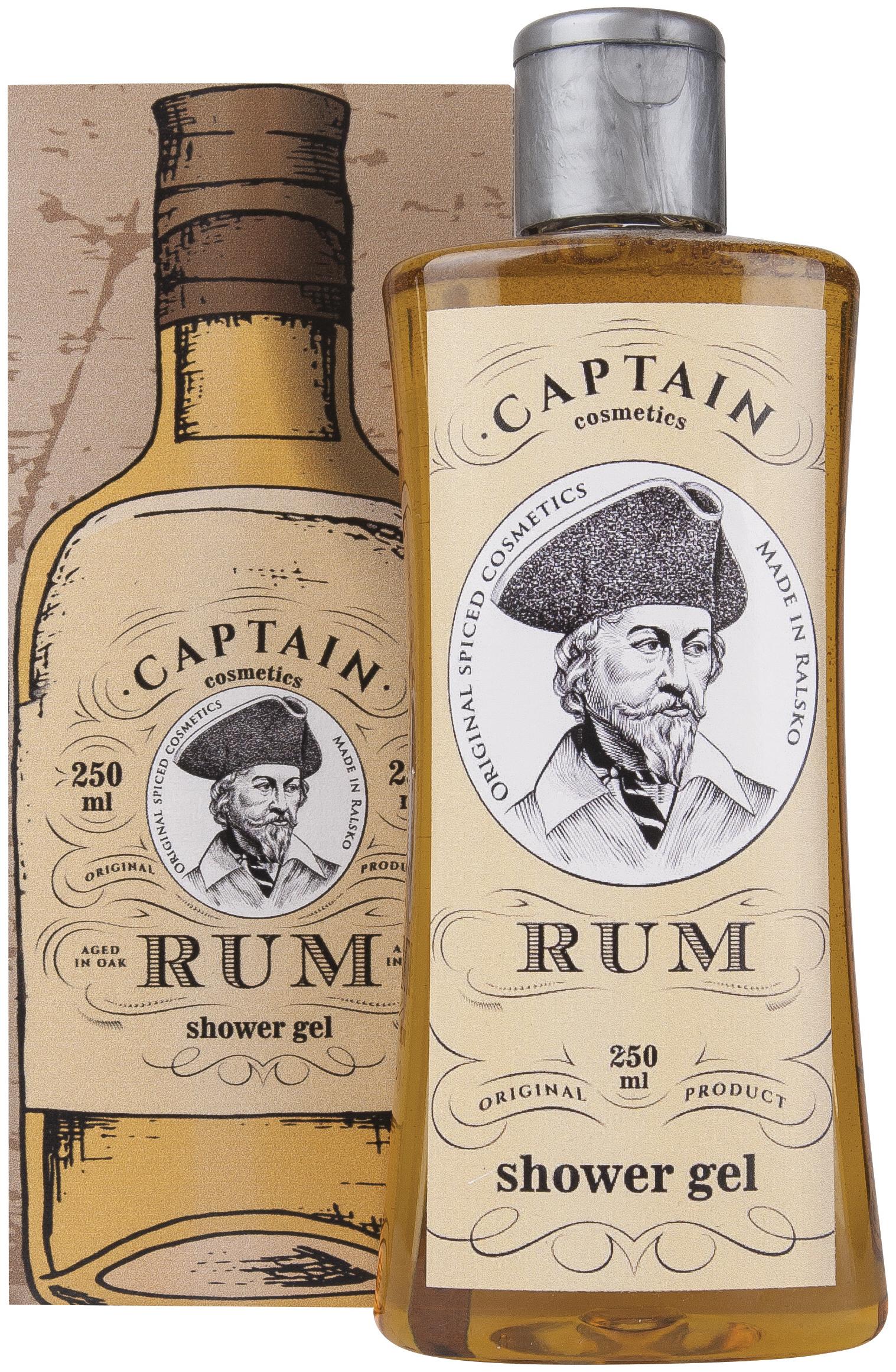 Fotografie Bohemia Gifts & Cosmetics Rumová kosmetika sprchový gel v krabičce s rumovým aroma 250 ml