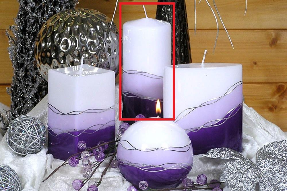 Lima Verona svíčka fialová válec 70 x 150 mm 1 kus