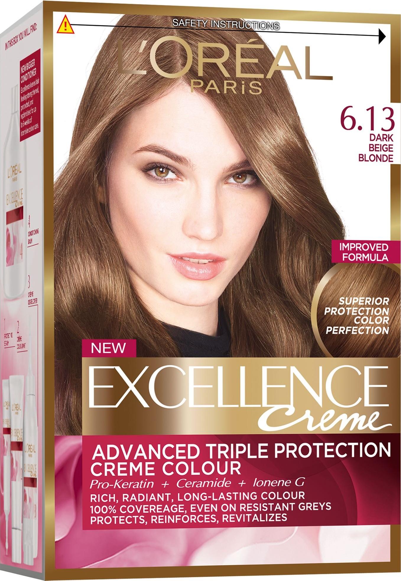 Loreal Paris Excellence Creme barva na vlasy 6.13 Blond tmavá béžová