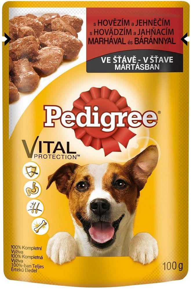 Pedigree Vital Protection s hovězím a jehněčím masem ve šťávě kapsička 100 g