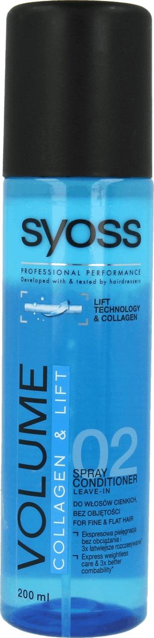 Fotografie Syoss Volume Collagen & Lift kondicionér sprej 200 ml