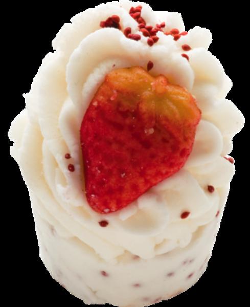 Bomb Cosmetics Lesní jahody - Wild Strawberry Máslový špalíček do koupele 50 g