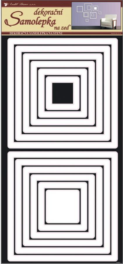 Room Decor Samolepky na zeď čtverce bílé 69 x 32 cm