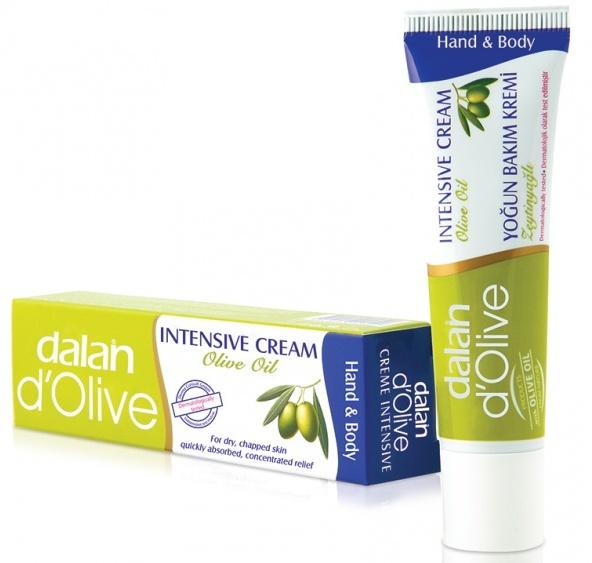 Fotografie Dalan d Olive s olivovým olejem intenzivní krém na ruce a tělo 20 ml
