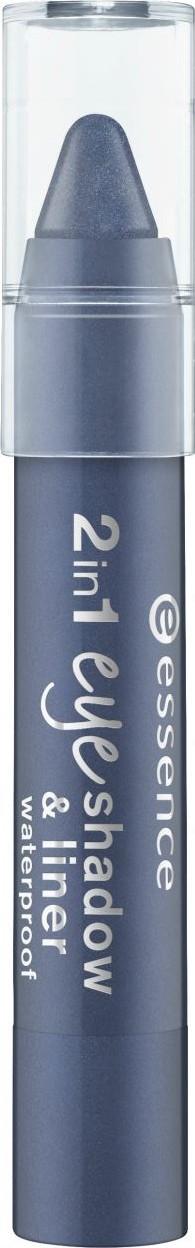 Fotografie Essence 2in1 Eyeshadow & Liner Waterproof oční stíny a linky 05 I m Blue 3,5 g