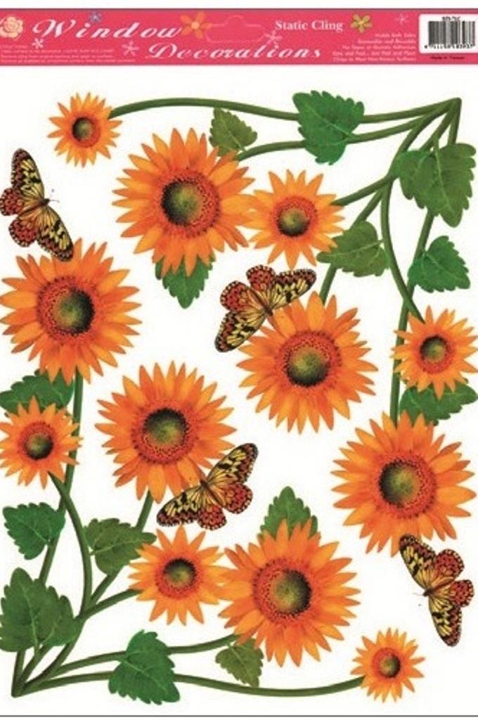 Room Decor Okenní fólie bez lepidla rohová slunečnice 37 x 26 cm