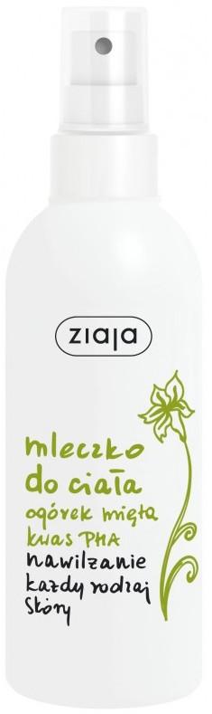 Ziaja Okurka máta tělové mléko ve spreji 200 ml