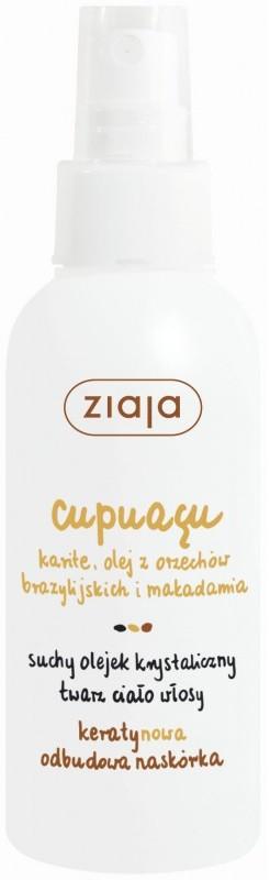 Ziaja Cupuacu krystalický suchý olej ve spreji na tvář, tělo, vlasy 100 ml