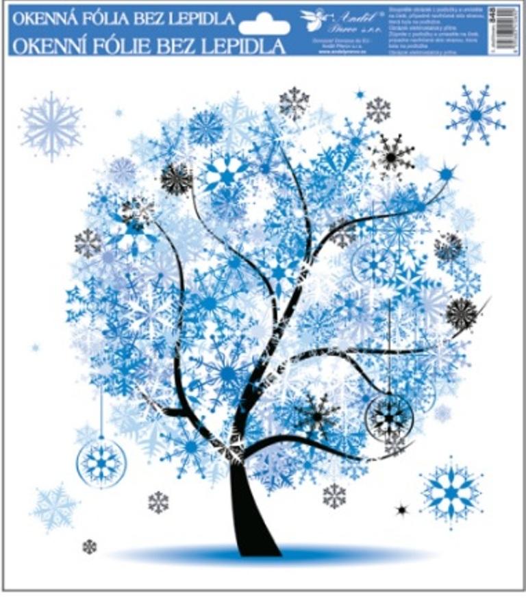 Room Decor Okenní fólie bez lepidla 4 roční období Zima 33,5 x 30 cm