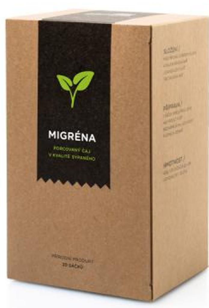 Fotografie Aromatica Migréna bylinný čaj 20 x 2 g