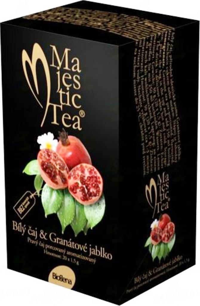 Fotografie Biogena Majestic Tea Bílý čaj & Granátové jablko 20 x 1,5 g
