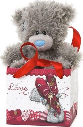 Fotografie Me to You Medvídek With Love v dárkové taštičce 12 cm