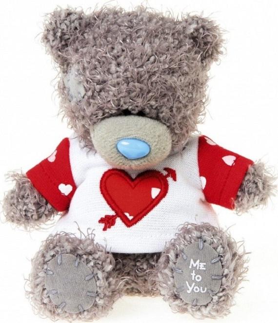 Me to You Medvídek v tričku s propíchnutým srdcem 11 cm