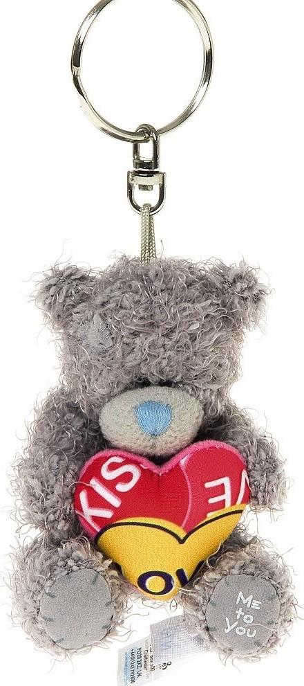 Me to You Medvídek se srdcem plyšová klíčenka 7 cm
