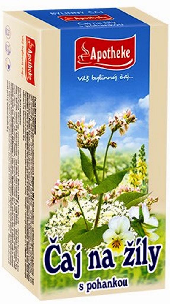 Fotografie Apotheke Na žíly s pohankou čaj 20 x 1,5 g