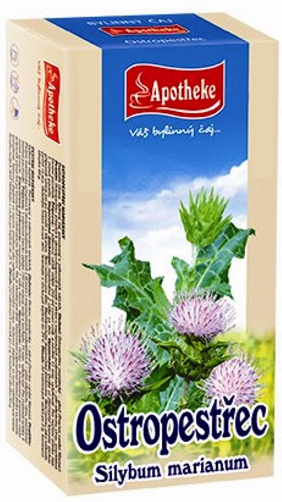 Apotheke čaj Ostropestřec mariánský pročistí játra, podporuje trávení 20 x 2 g