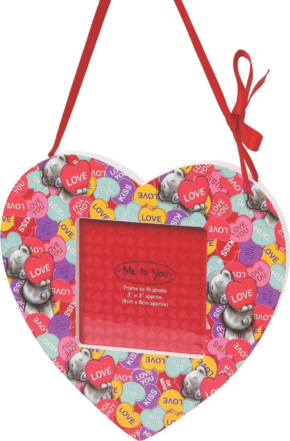 Me to You Rámeček Love závěsné srdce 14,5 x 14 cm