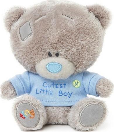 Me to You Tiny Tatty Teddy Medvídek v modrém tričku 11,5 cm