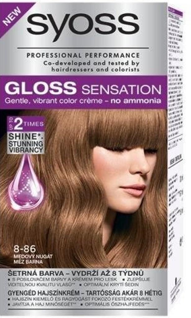 Syoss Gloss Sensation barva na vl.8-86 Medový nugát 7107