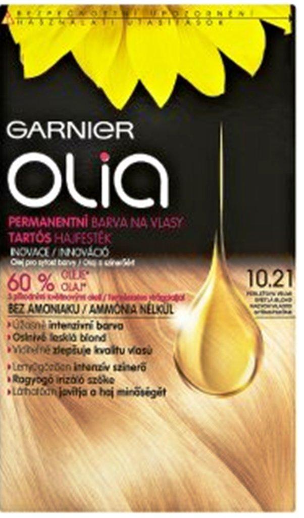 Fotografie Garnier Olia barva na vlasy bez amoniaku 10.21 Perleťová velmi světlá blond
