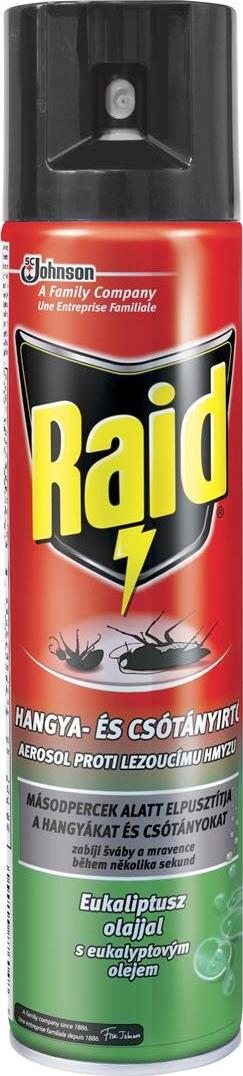 Fotografie Raid aerosol proti lezoucímu hmyzu s eukalyptovým olejem sprej 400 ml